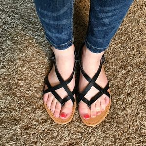 Forever 21 scrappy sandals!